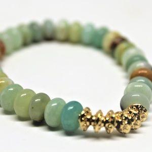 Hala M Jewelry, Amazonite beaded bracelet